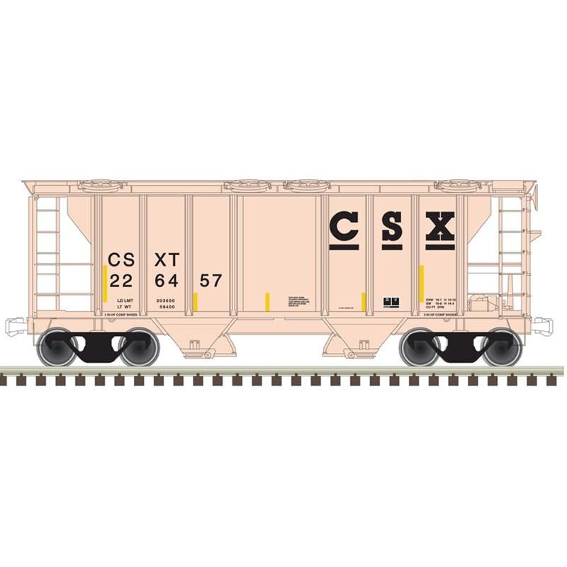 N PS-2 covered hopper CSX Nr 226508_47687