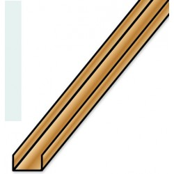 Messing U Profil 1,0 x 1,0 x 980 mm gefräst_724