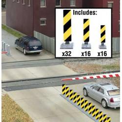 HO Quiet Crossing Lane Markers (yellow / black str_47968