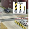HO Quiet Crossing Lane Markers (yellow / black str