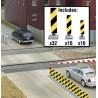 HO Quiet Crossing Lane Markers (yellow / black str