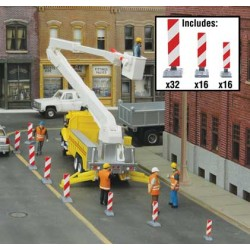 HO Quiet Crossing Lane Markers Kit (white, red str_47970