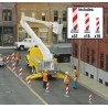 HO Quiet Crossing Lane Markers Kit (white, red str