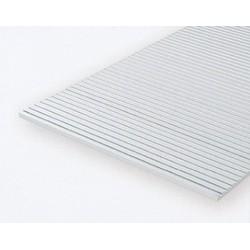 Polystyrol Platte längsgerillt 1,0mm Kerbab:0.75mm_642