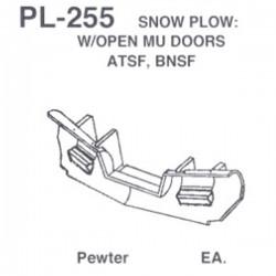 HO Snow Plow Open MU Doors - Atchison, Topeka & Sa_48064