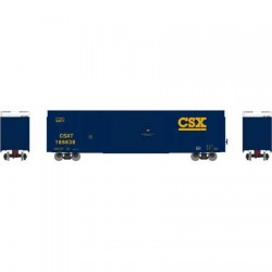 HO 60' FMC Double Box Car CSX Nr 166638_48094