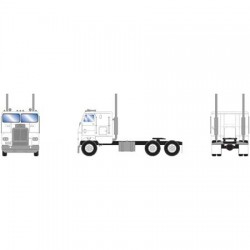 HO Freightliner Tractor Dual Axle white - weiss_48116