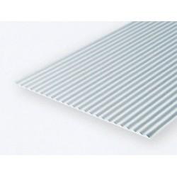 Polystyrol Metal Siding 15 x 30 cm Kerbe 0,75 mm_521