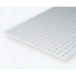 Polystyrol Platte kariert (L) 15 x 30cm x 3.2mm_504