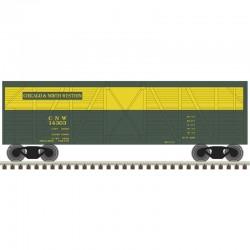 N 40' Stock Car Chicago & NorthWestern  Nr 14555_48325