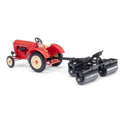 HO Traktor Porsche Junior K mit Ackerwalze