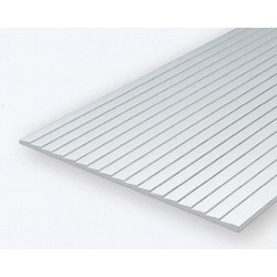 Polystyrol Platte überlappt 15 x 30cm x1mm x0.75mm_531