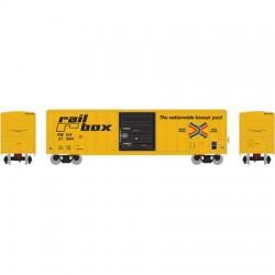 N 50' FMC 5347 sgl door Box Car Railbox_48811