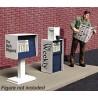502-871410 HO Newspaper Stands pkg(2) Metal Kits_48886