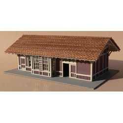 N Elmhurst Depot - Kit (Laser-Cut Wood)_48980