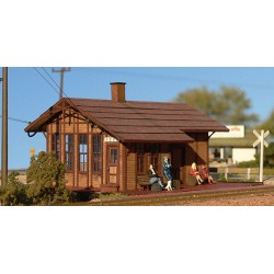 HO Peru, Iowa Depot - Kit (Laser-Cut Wood)