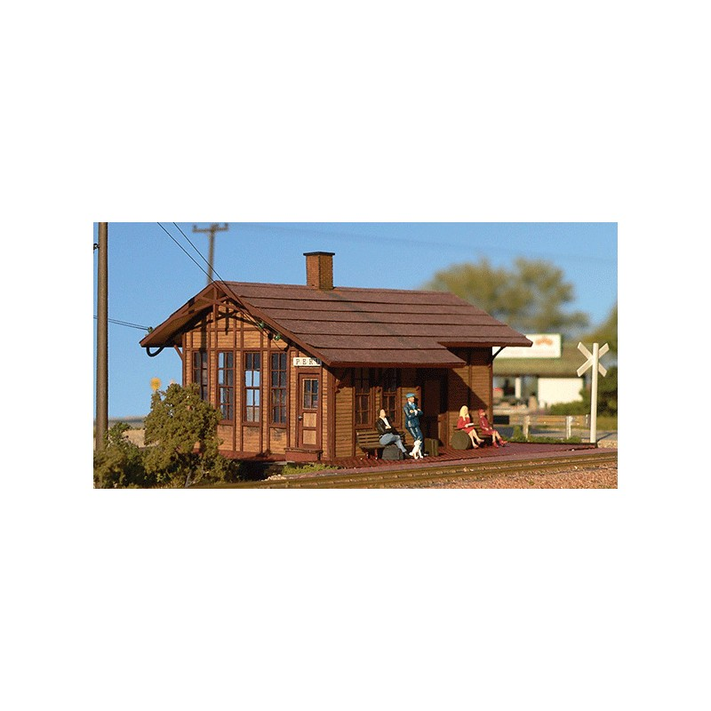 HO Peru, Iowa Depot - Kit (Laser-Cut Wood)_48982