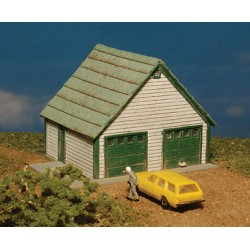 Z Two Car Garage - Kit (Laser-Cut Wood)_49032