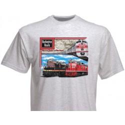 "T-Shirt ""CB&Q Tripple Header"" M_4194"