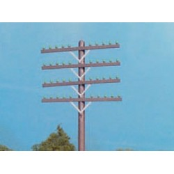 HO Railroad Telephone Pole Crossarms Only - Brown_49110