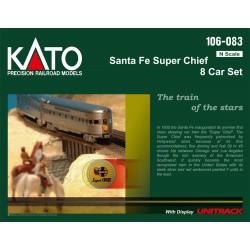 N Santa Fe Super Chief 8-Car Set m/Display Unitrac_50136
