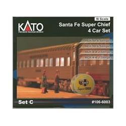 N Santa Fe Super Chief 4-Car Set add on interior L_50142
