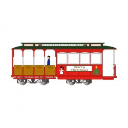 HO DC Cable Car with Grip Man Christmas_50143