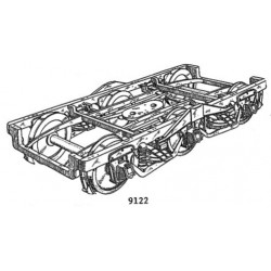 O 2-RL HW Pullman Drehgestell, 2411 fertig Messing_50282