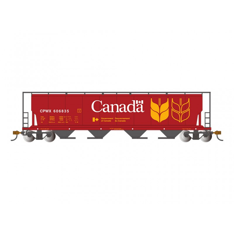 HO Canadian 4-Bay Cyl. grain hopper Canada Grain_50299
