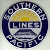 460-10005 Die-cast metal sign Southern Pacific