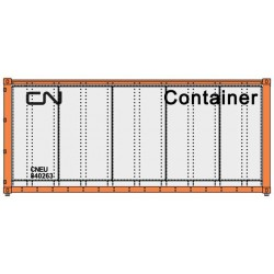 HO 20' smooth side Container CN (weiss-schwarz)_50613