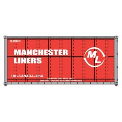 HO 20' smooth side Container Manchester Liners_50619
