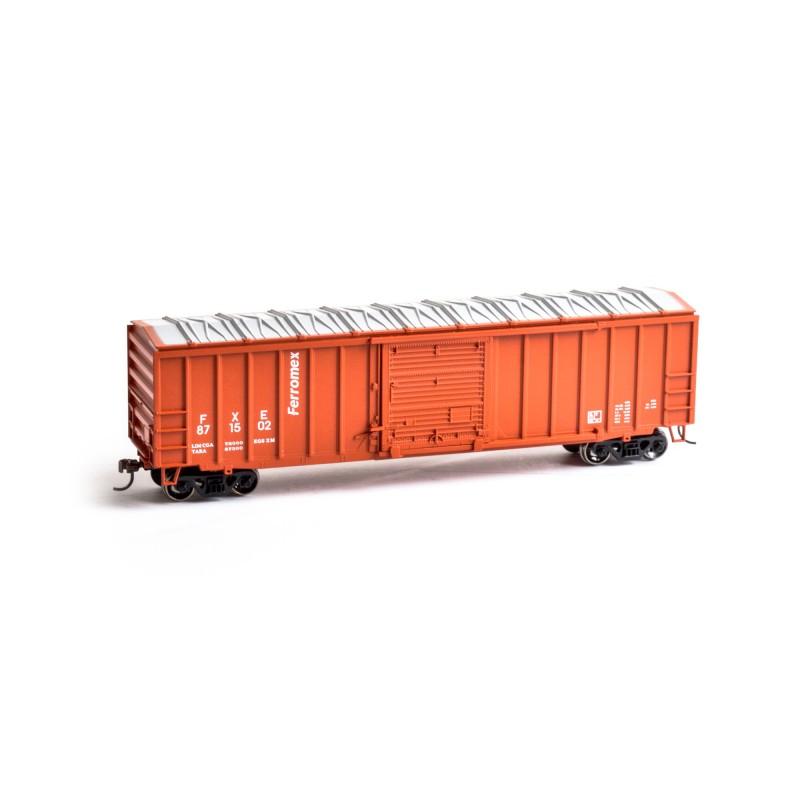 HO 50' ACF Outside Post Box Car Ferromex Nr 871502_50875