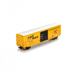 HO 50' ACF Outside Post Box Car Railbox 11048_50898