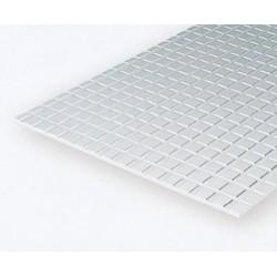 Polystyrol Platte kariert (H) 15 x 30cm x 1,6mm_509