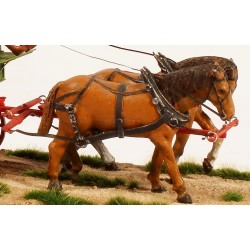 164-282 O Harnessed Standing Horses_50971