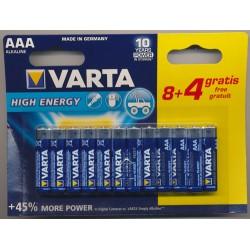 Varta Batterien AAA 8 + 4 Gratis_51016