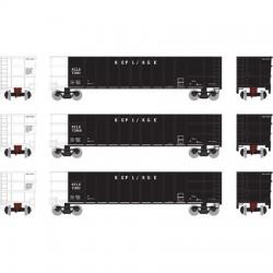 HO Thrall High Side Gondola KCLX Set 1 (3-pack)_51478