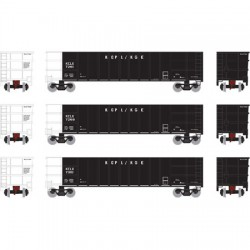 HO Thrall High Side Gondola KCLX Set 2 (3-pack)_51479