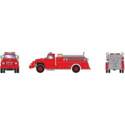HO Ford F-850 Fire Truck Red_52240