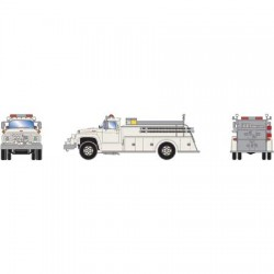 HO Ford F-850 Fire Truck white_52242