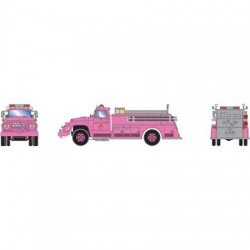 HO Ford F-850 Fire Truck Country Fire Dept. Pink_52244