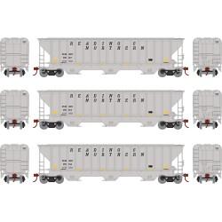 HO PS4740 Covered Hopper RBM&N (3 Stk)