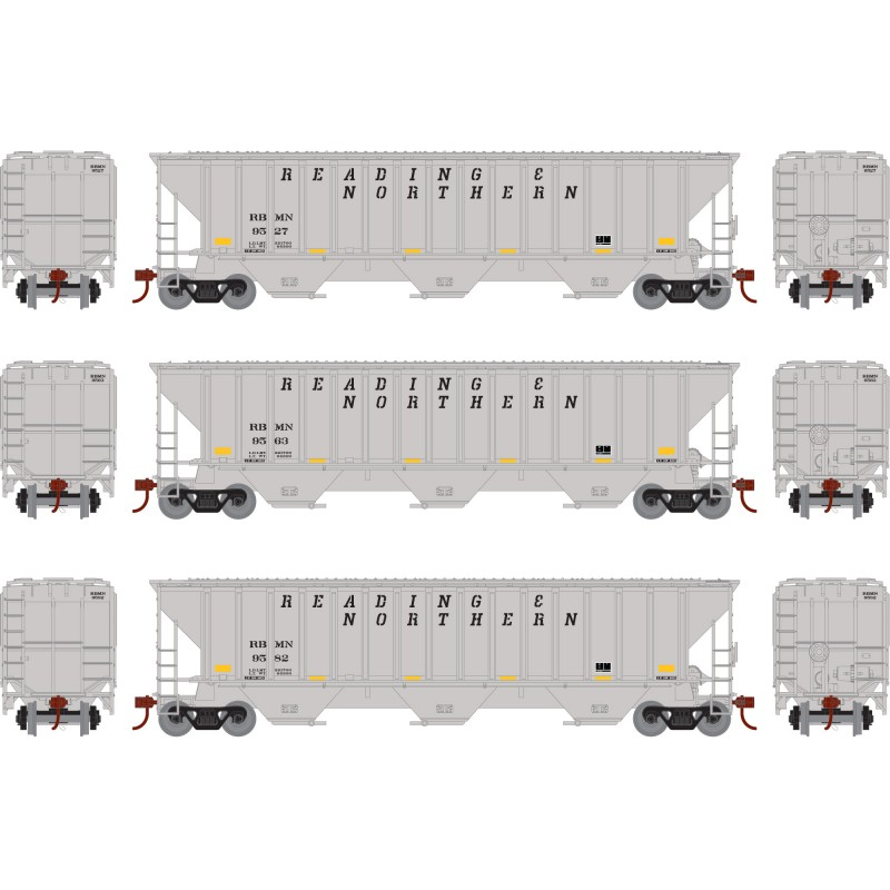 HO PS4740 Covered Hopper RBM&N (3 Stk)_52273
