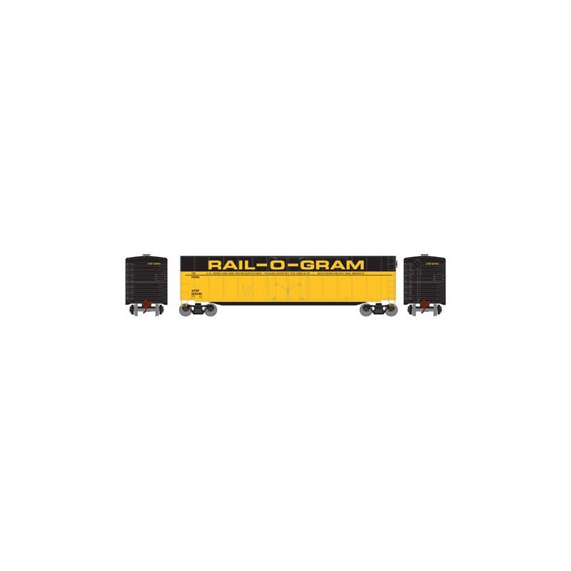HO 50' sgl plug door box car ATSF 524045_52790