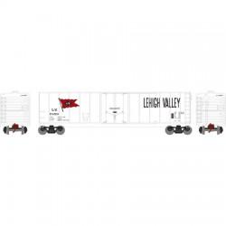 HO 50' sgl plug door box car Lehigh Valley 7051