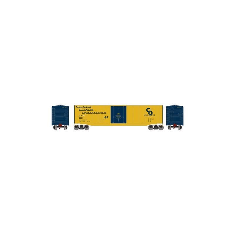 HO 50' sgl plug door box car C&O 23277_52797