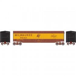 HO 50' sgl plug door box car Milwaukee Road 2602_52800