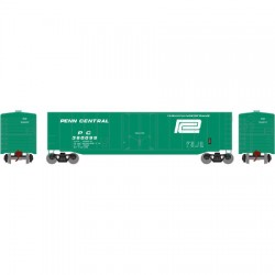 HO 50' sgl plug door box car Penn Central 360124