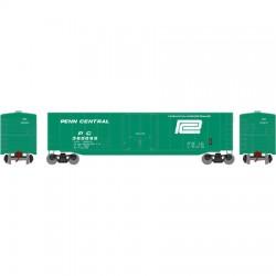 HO 50' sgl plug door box car Penn Central 360193